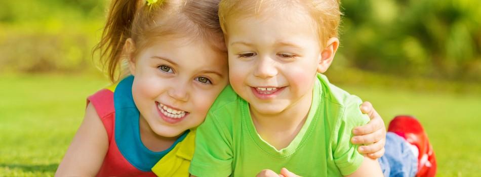 Kinderen hebben plezier op de kinderopvang